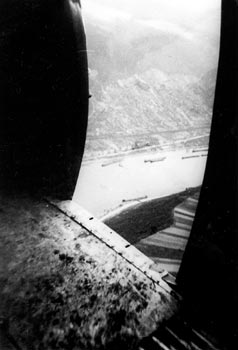 The Rhine seen through the door of a C-47. (R. Pearson)