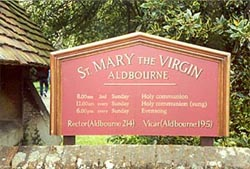 The village of Hambleden, Buckinghamshire masqueraded as Aldbourne, Wiltshire.