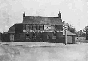 The 'Hare and Hounds' public house, Lambourn Woodlands, a welcome sight for all servicemen stationed at Membury